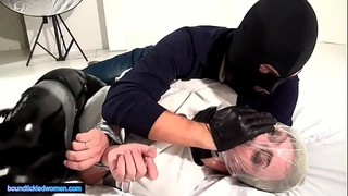 Ammalia handsmothered fastened tickled and suffocated by a stud in balaclava