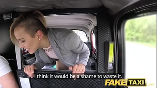 Fake taxi cute small legal age teenager acquires free ride