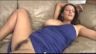 Busty milf tugjob and vagina rubbing