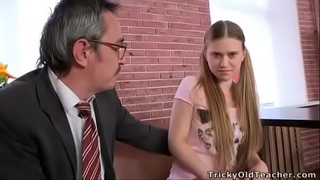 Tricky old teacher - augustina acquires a faceful of cum from her teacher