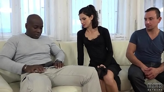 Cuckold training girl fucks dark guy in front of spouse and bawdy cleft licked