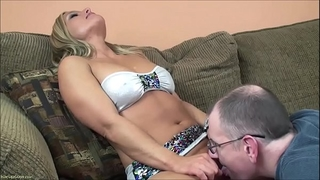 Busty older horny white wife fucking doggy position