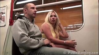 Big mounds cheating wife stella fox public sex trio in a subway teach with two dudes