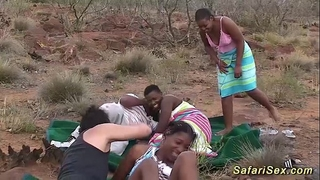 Real african safari sex fuckfest