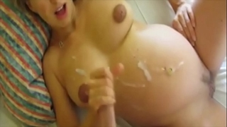 Pregnant cum on abdomen cumpilation