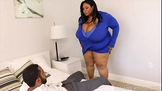 Huge tit ebon bbw cotton candi copulates next door bbc