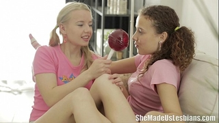 She made us lesbian babes - vasilisa loved the lollipops