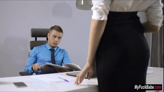 Sexy secretary sheri vi seduces her boss and bonks him