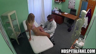 Sexy blond patient receives fingered by her doctor20 two