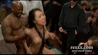 Hottest brunette hair brutally team-fucked by biggest dongs and ding-dong