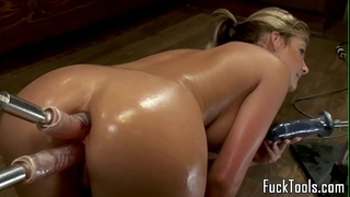 Big wazoo blond anal and wet crack fucking sex toy