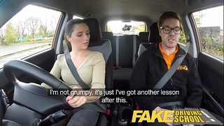 Fake driving school little english legal age teenager acquires screwed after her lesson