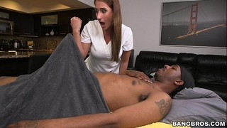 Massage therapist finds a biggest dark knob