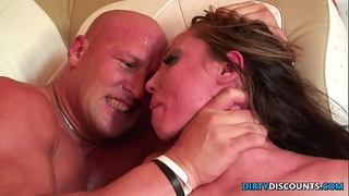 Roughfucked milf chokes on heavy ramrod