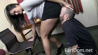 Cece stone facesitting and farting on slacker boyfriend