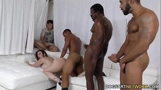 Slut sara jay banged by dark ramrods
