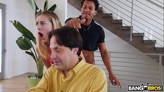 Bangbros - youthful haley reed copulates boyfriend behind her dad's back