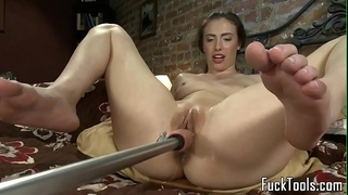 Masturbating dilettante squirts getting toyed